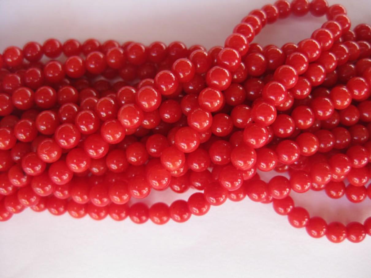 rød koral perler