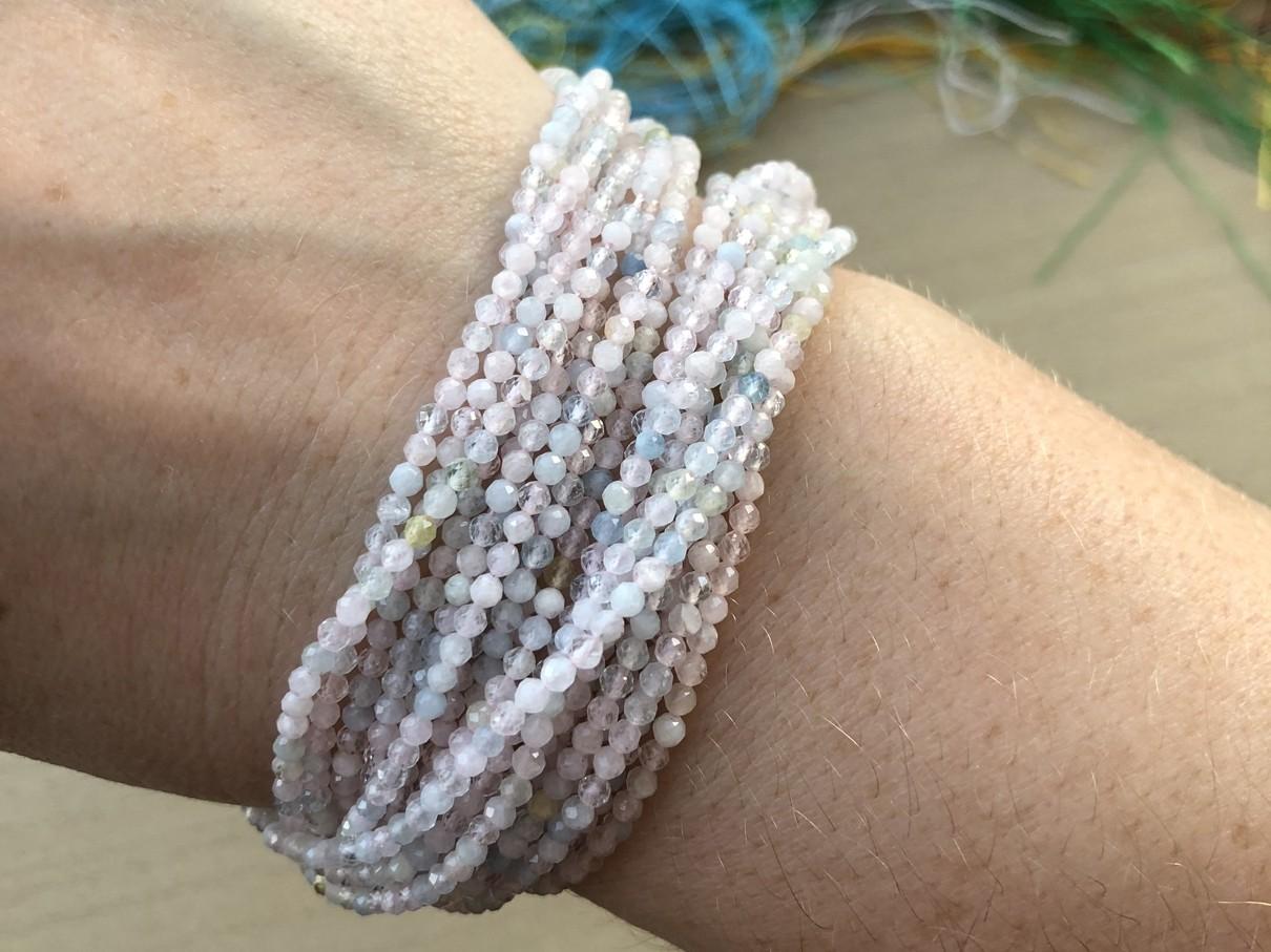 morganit 2mm perler