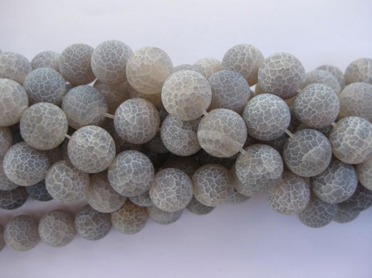 mat krakkeleret grå agat