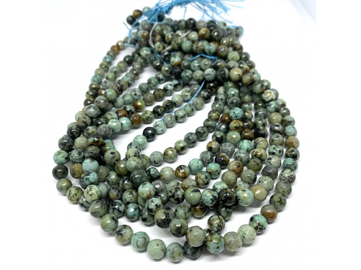 6mm perler af afrikansk turkis