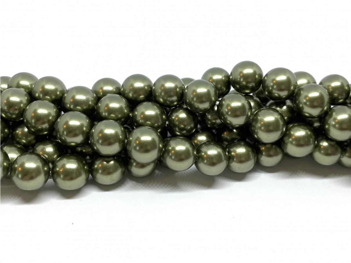 Shell pearl, grøn 10mm