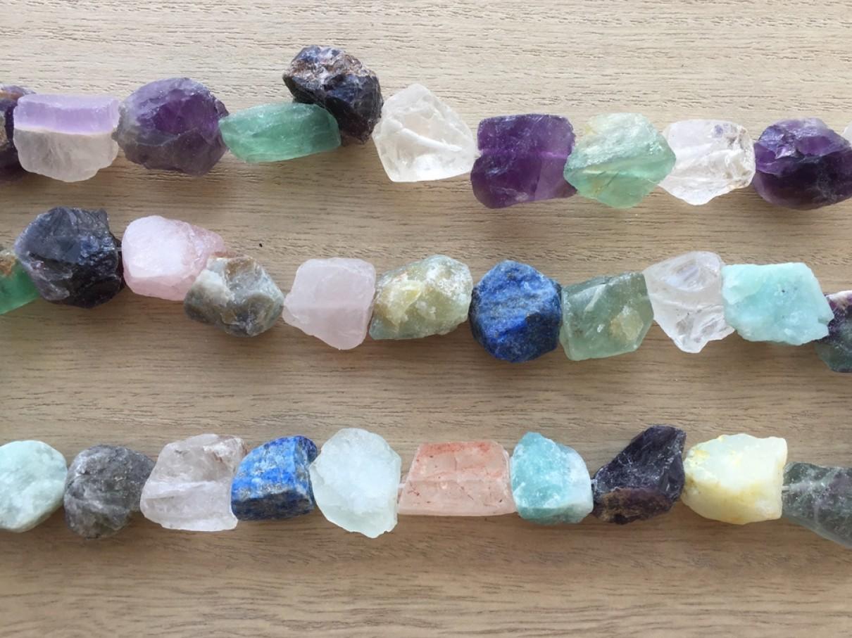rå sten perler