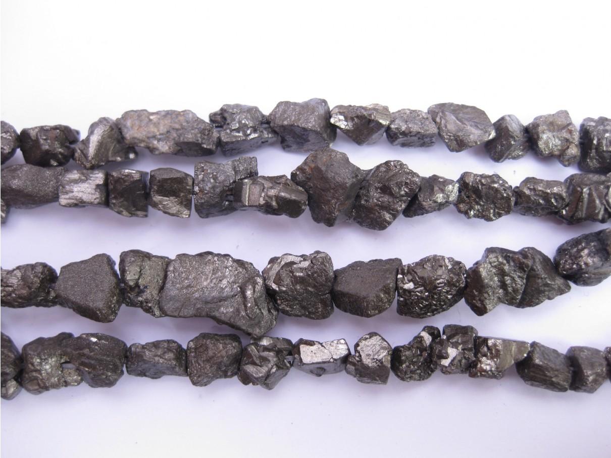 Pyrit perler rå nuggets