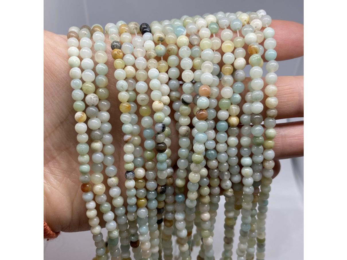 4mm amazonit perler