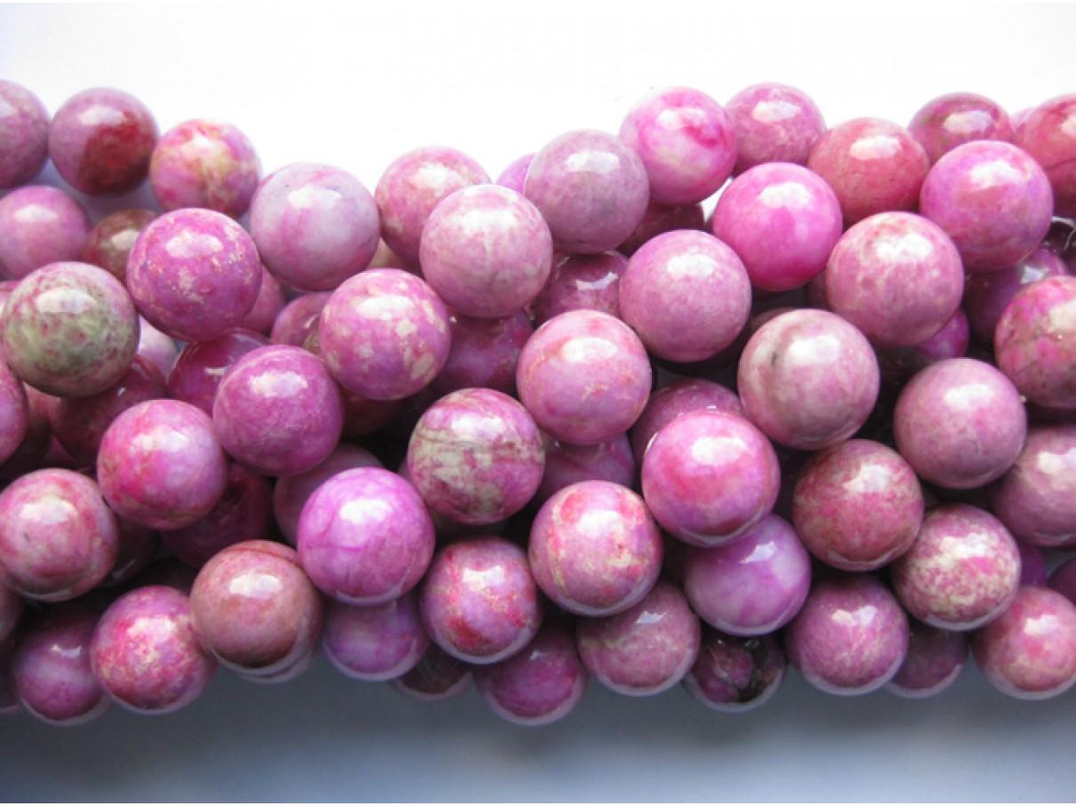 Rubin jaspis, rund 12mm