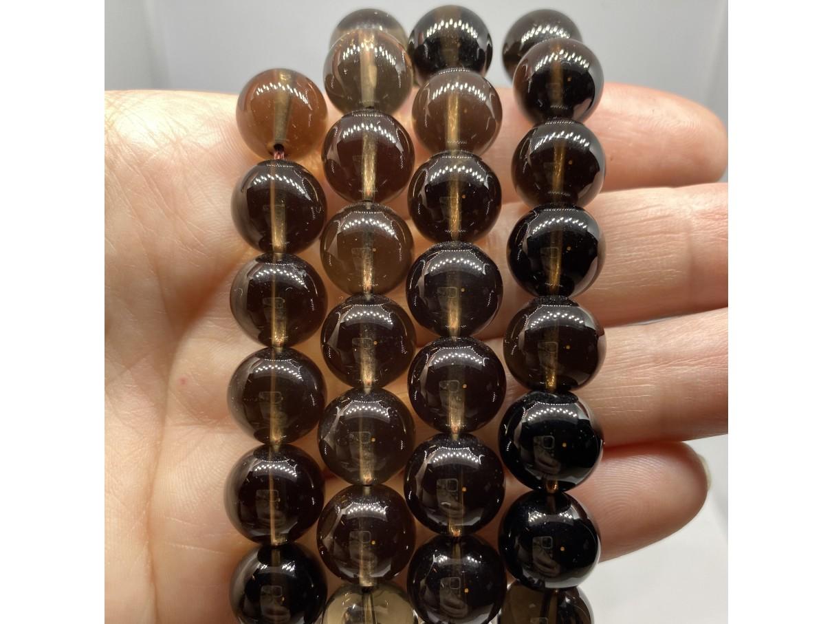 røgkvarts perler 12mm runde