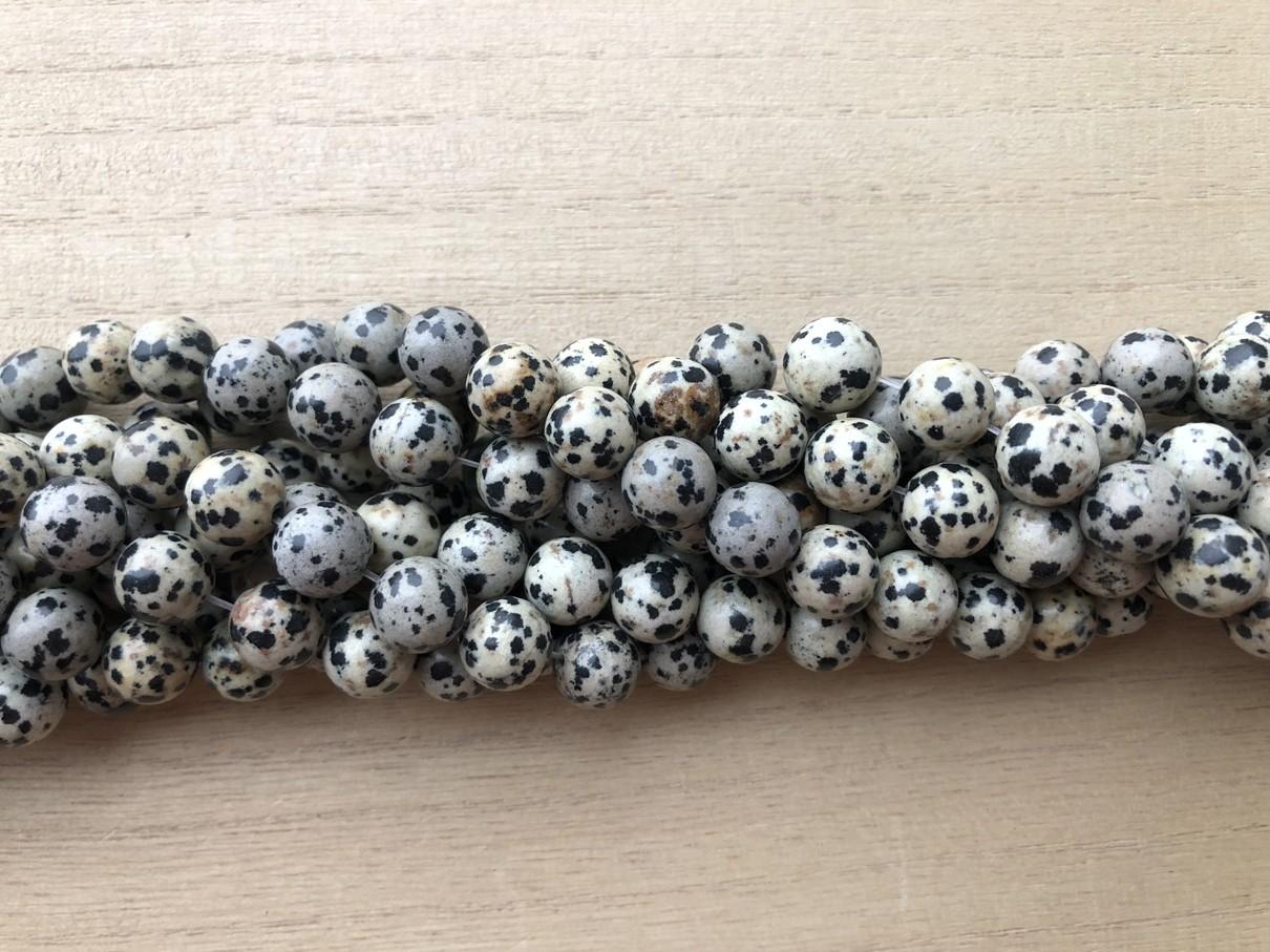 Dalmatiner jaspis, rund 10mm
