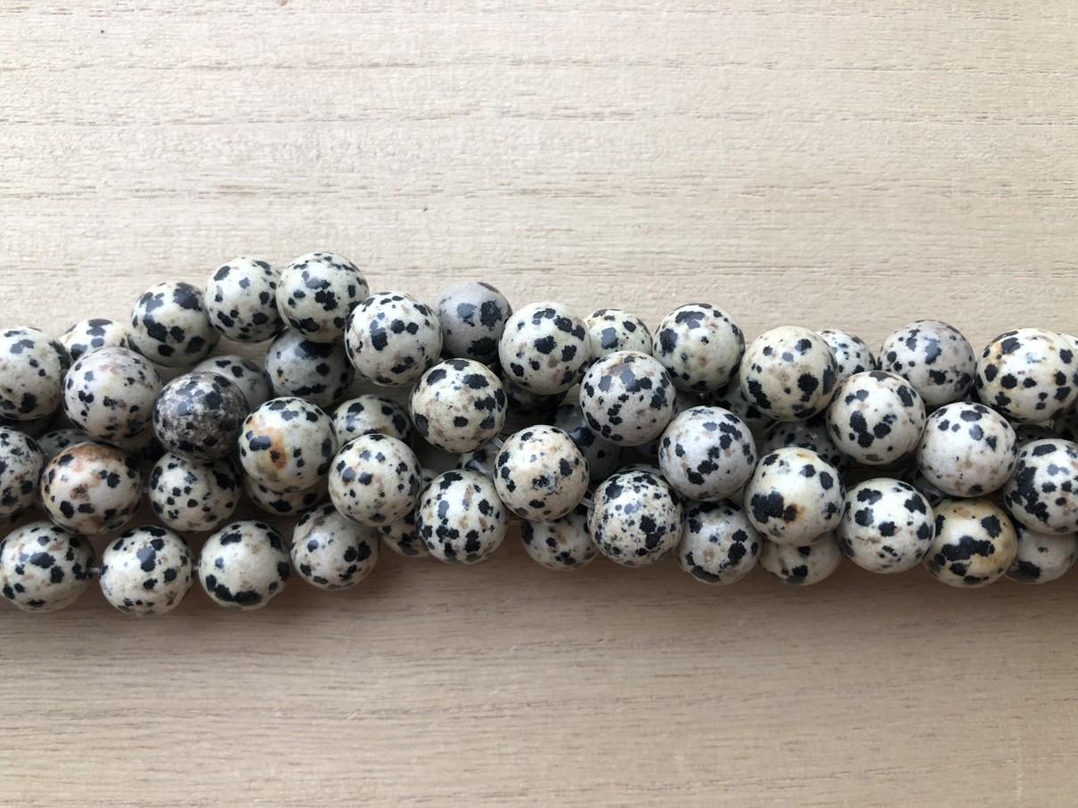 Dalmatiner jaspis, rund 12mm