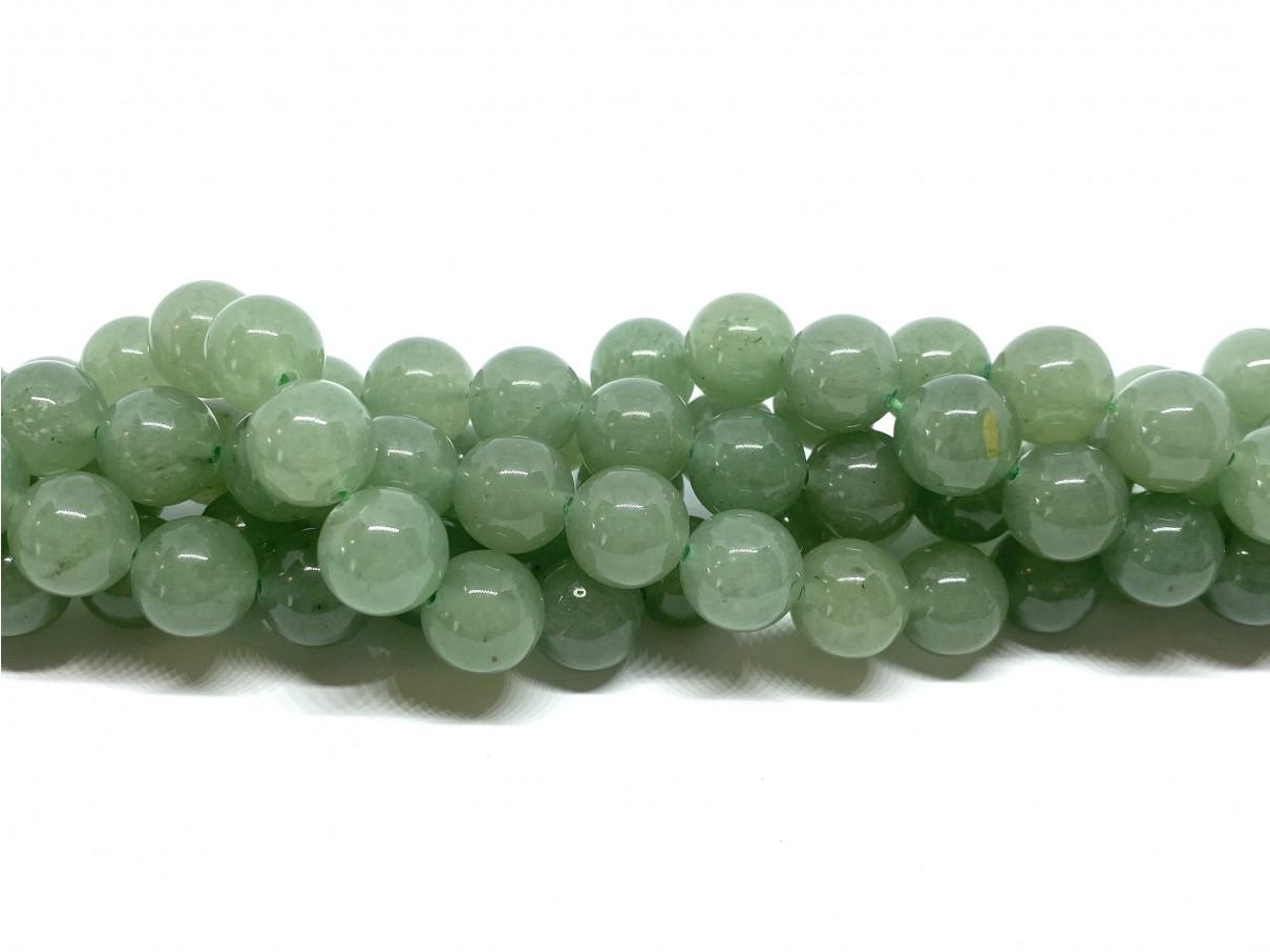 Grøn aventurin, rund 10mm