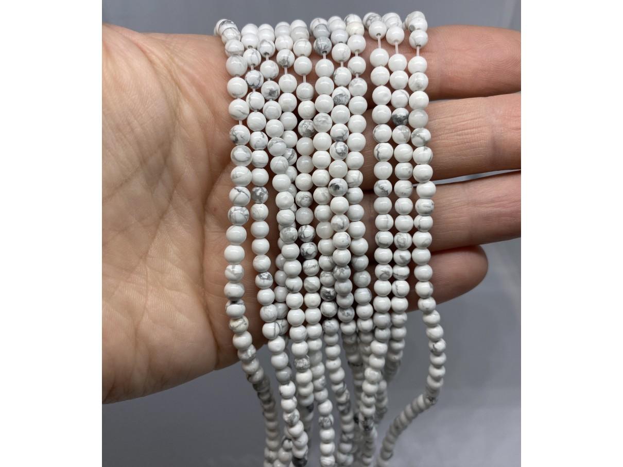 4mm hvide perler