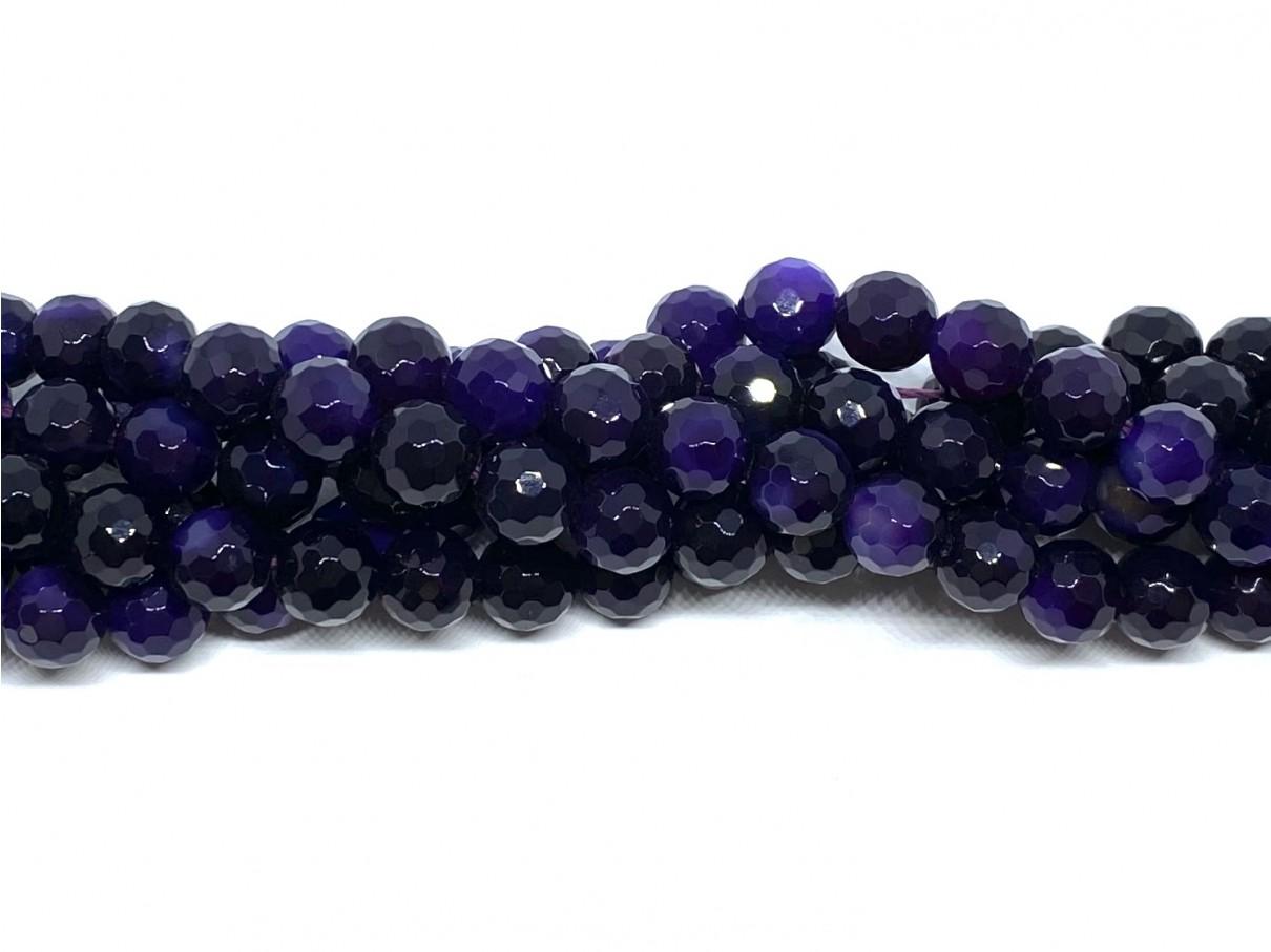mørk lilla perler 8mm