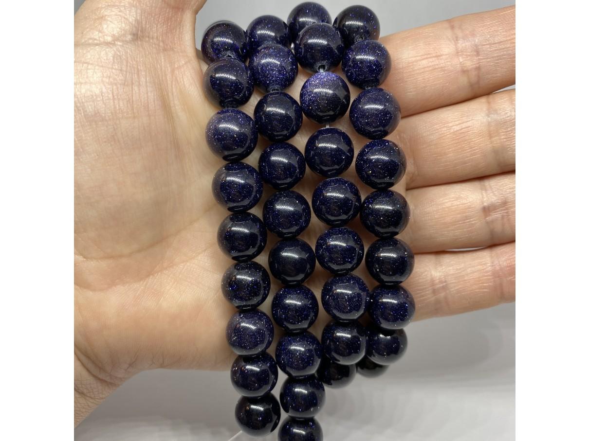 12mm blå goldstone