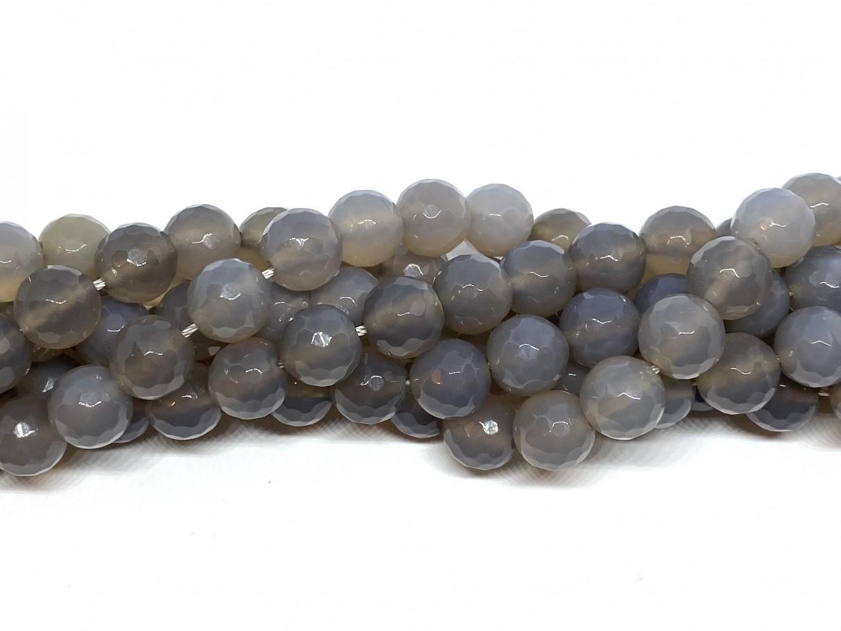 grå agat perler 10mm