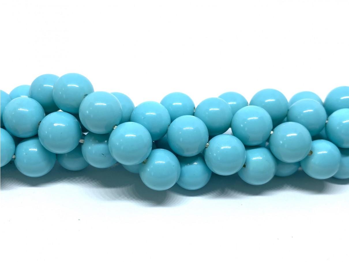 Shell pearl, lys turkis blå 10mm