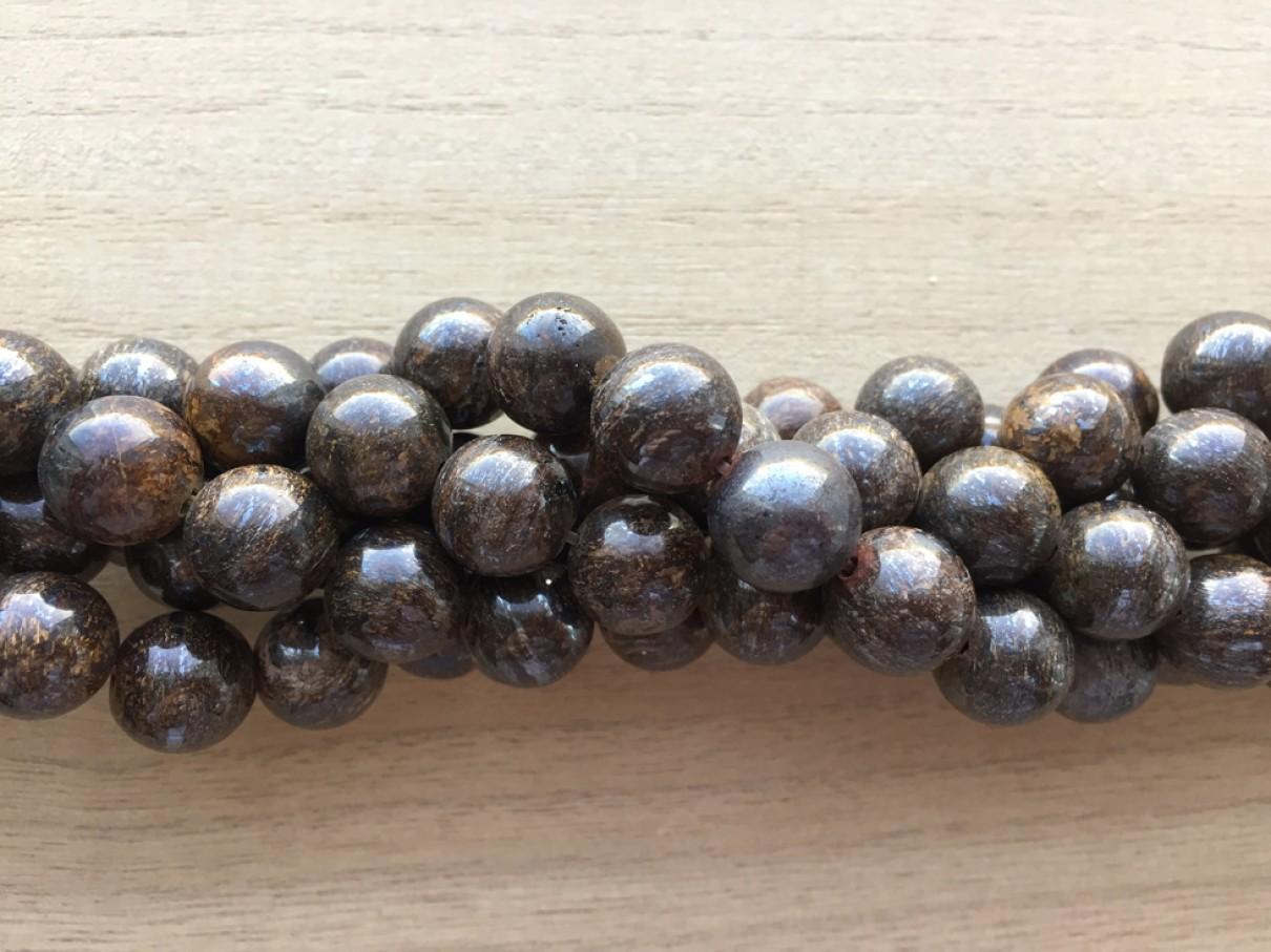 Bronzite, rund 12mm