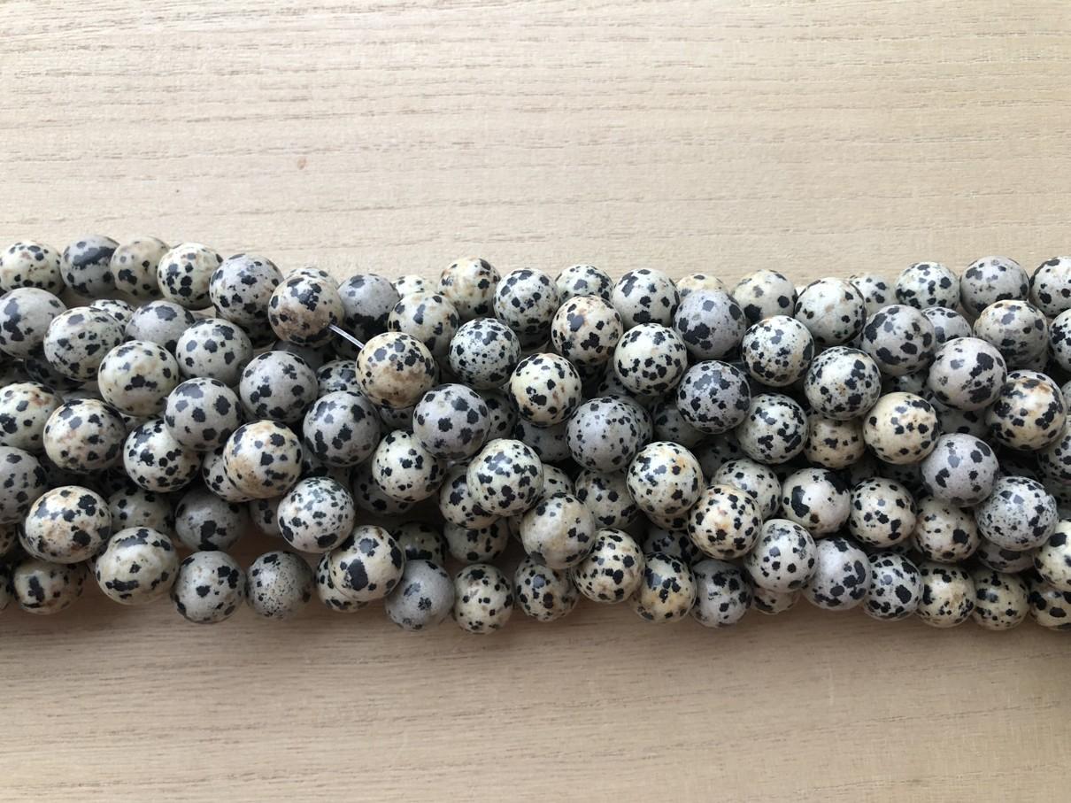 Dalmatiner jaspis, rund 14mm