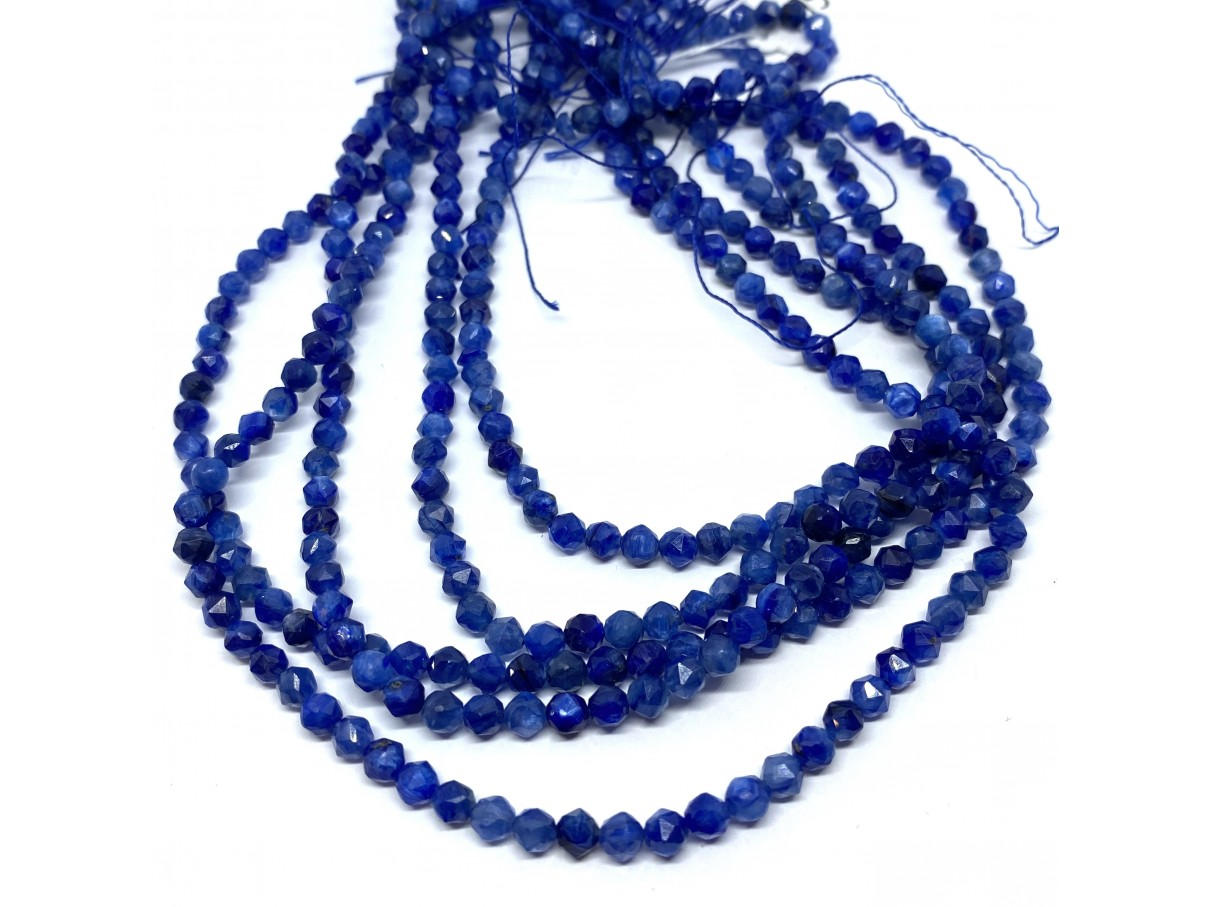 4mm blå kyanit perler