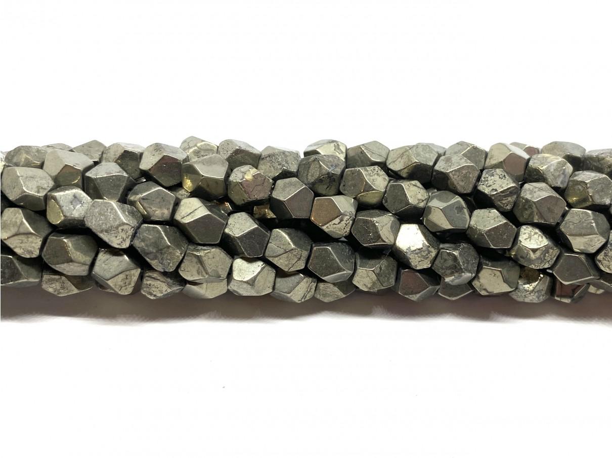 Pyrit, kantede nuggets 6mm
