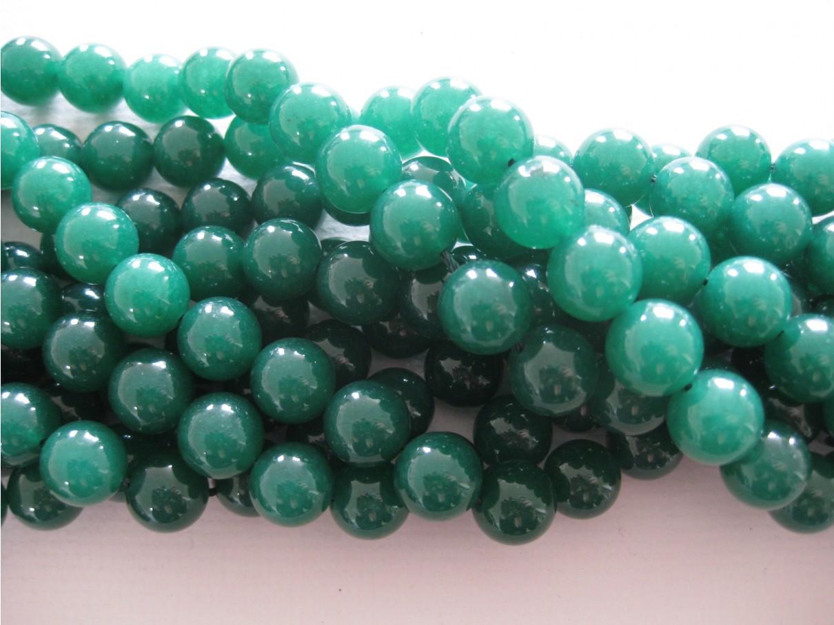 Emerald grøn jade, rund 12mm