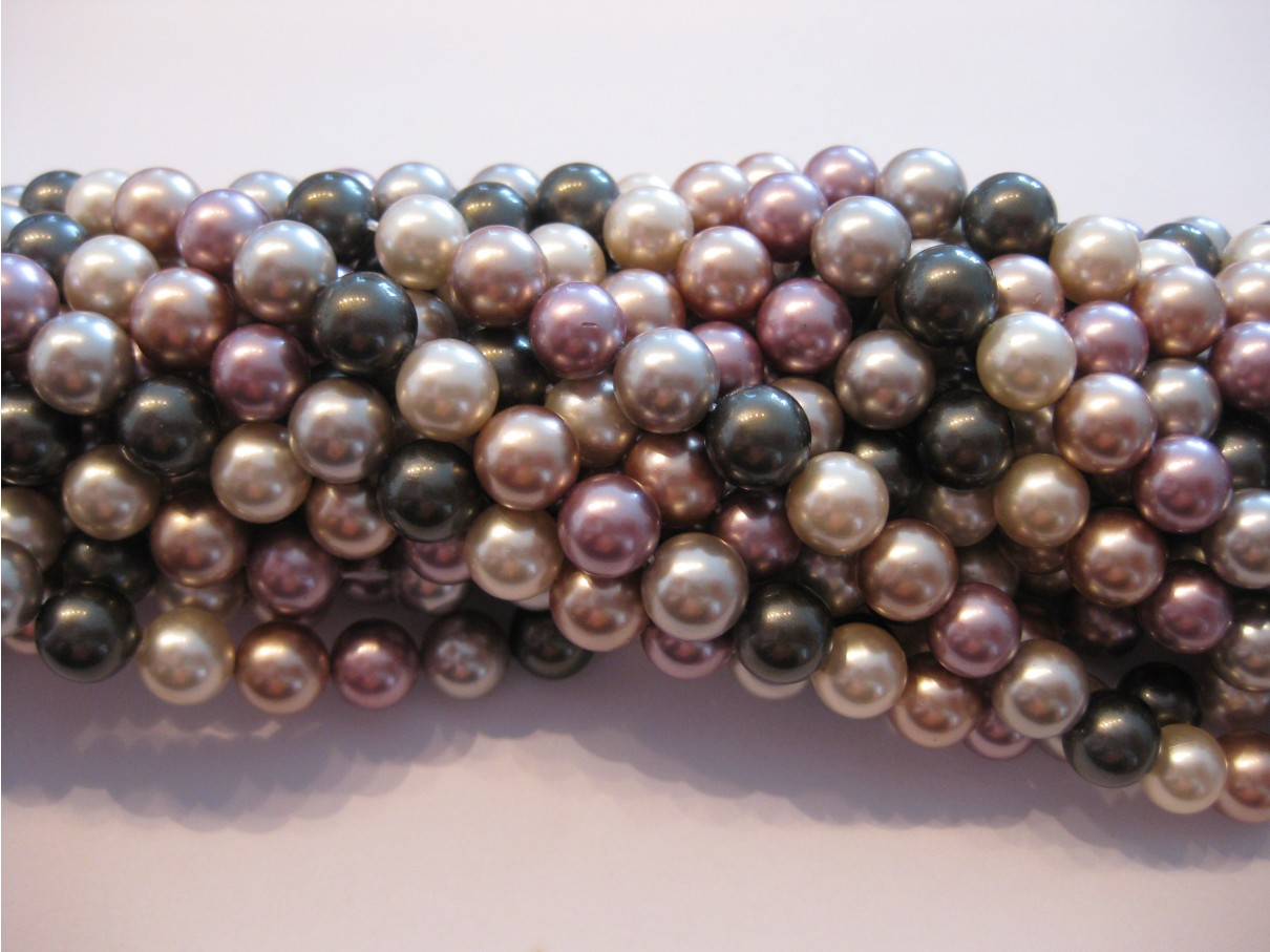 Shell pearl, 8mm mix, hel streng