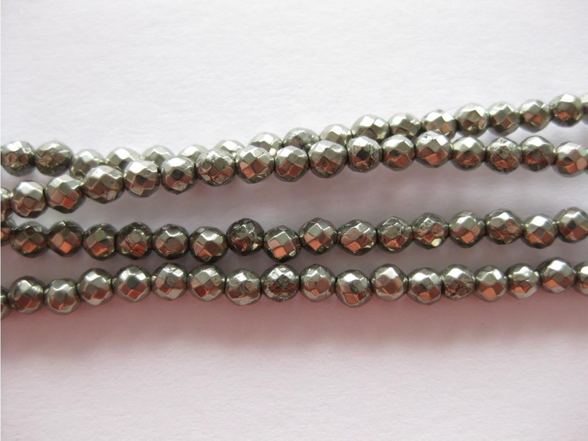 3mm facet pyrit perler