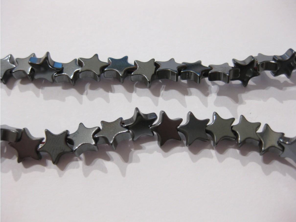 Hæmatit stjerner, 6mm flad