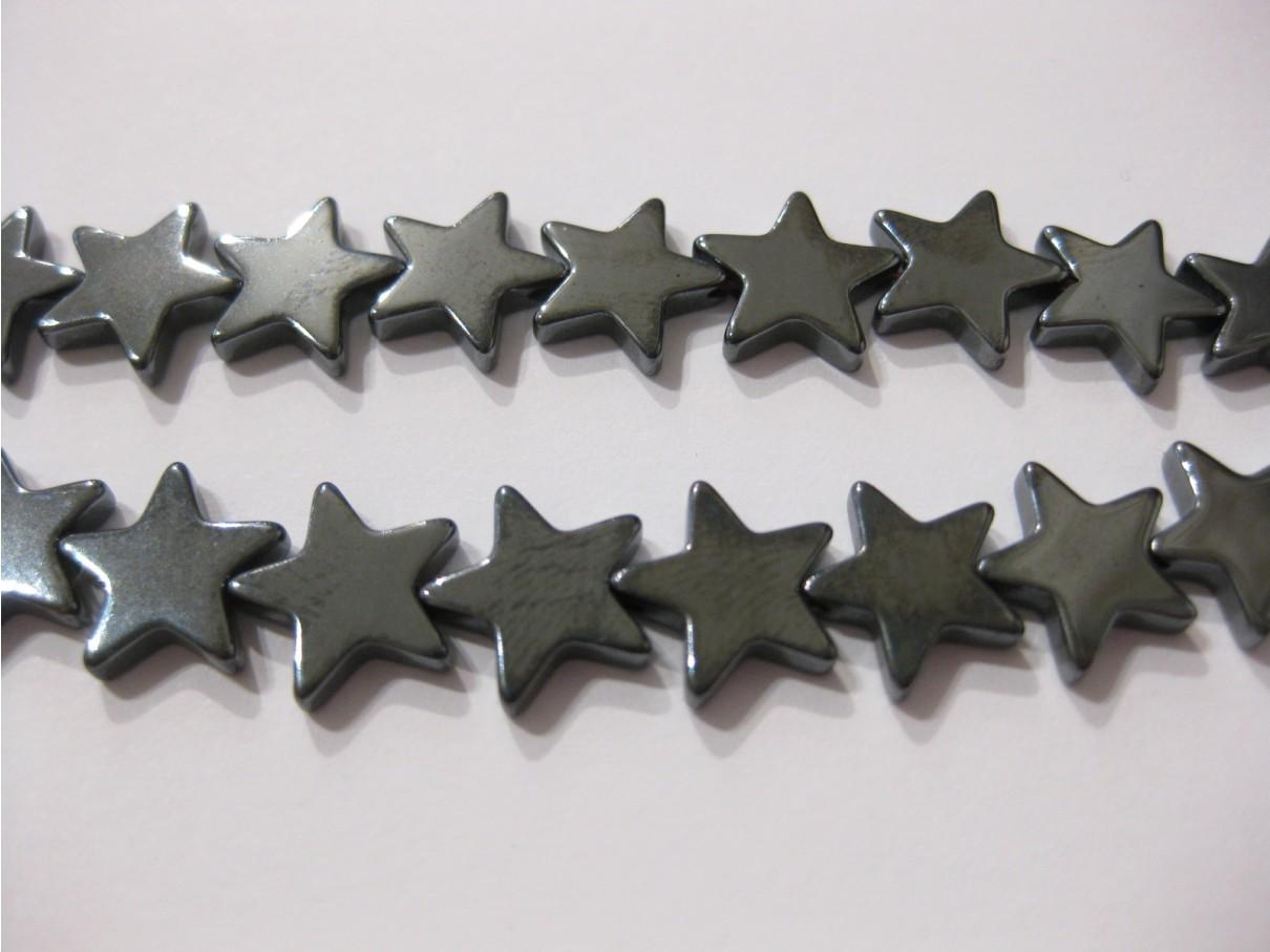 Hæmatit stjerner, 10mm flad