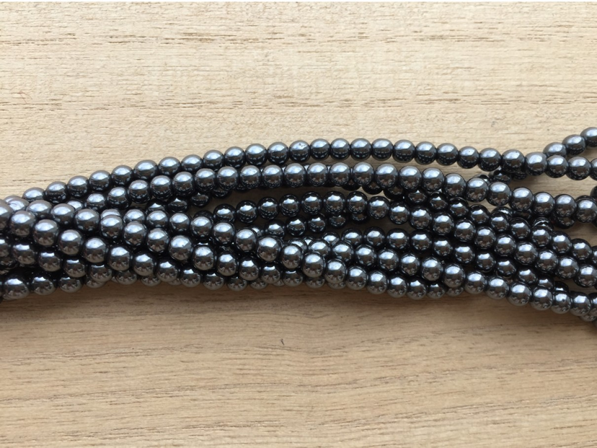4mm hæmatit perler