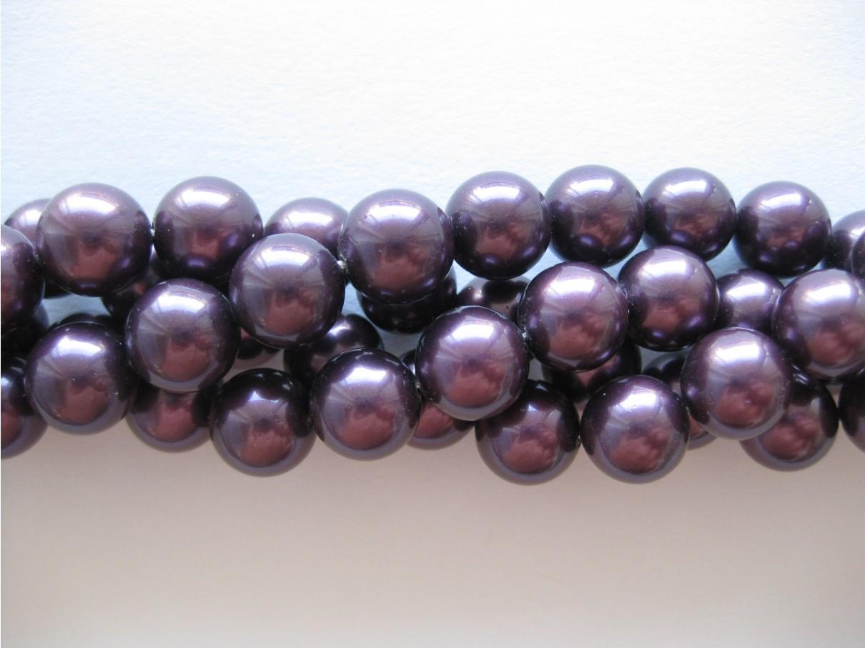 Shell pearl, bordeaux-lilla 10mm