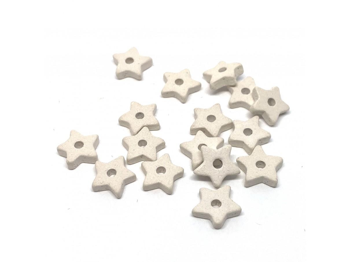 9mm keramikstjerne, hvid