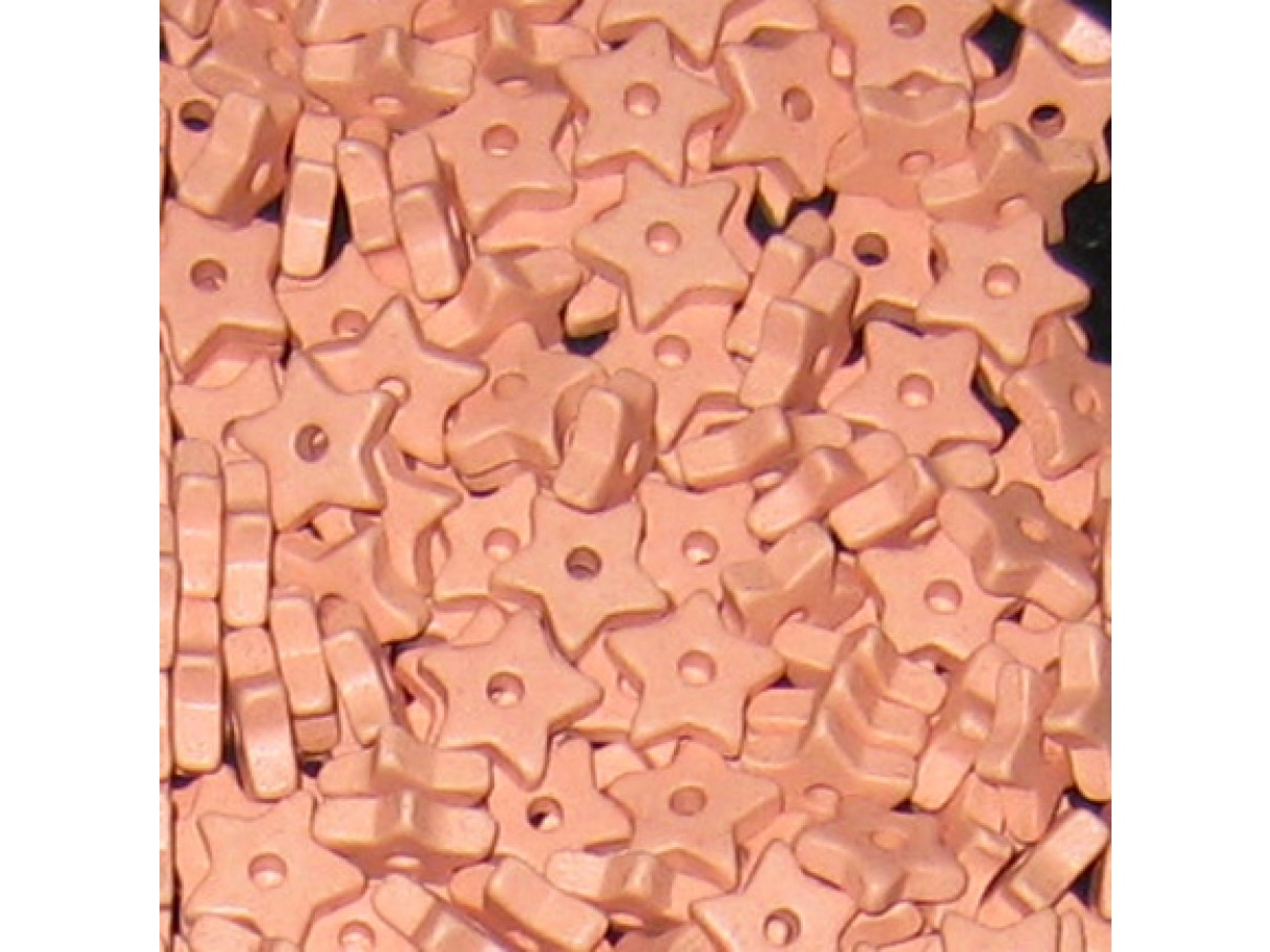 9mm keramikstjerne, lyserød/koral