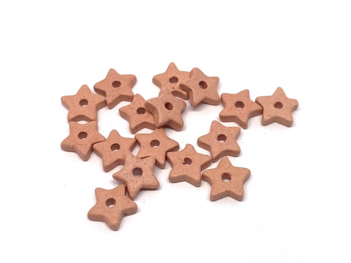 9mm keramikstjerne, fersken/koral