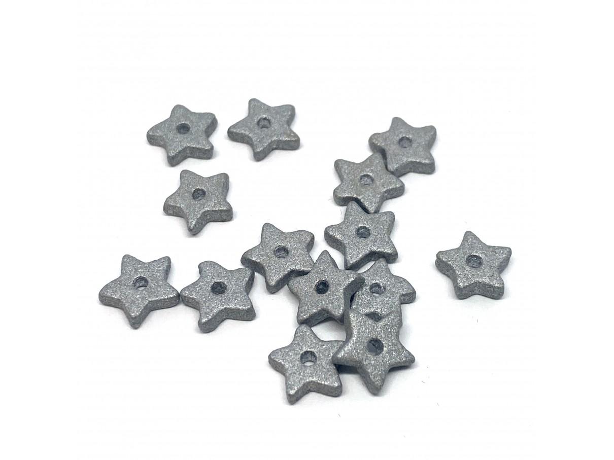 9mm keramikstjerne, sølv