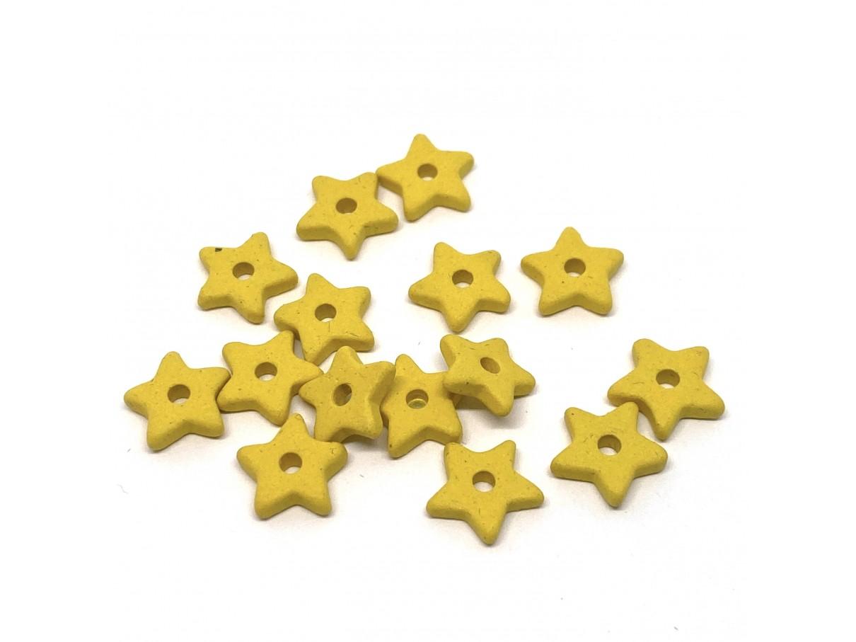 9mm keramikstjerne, gul