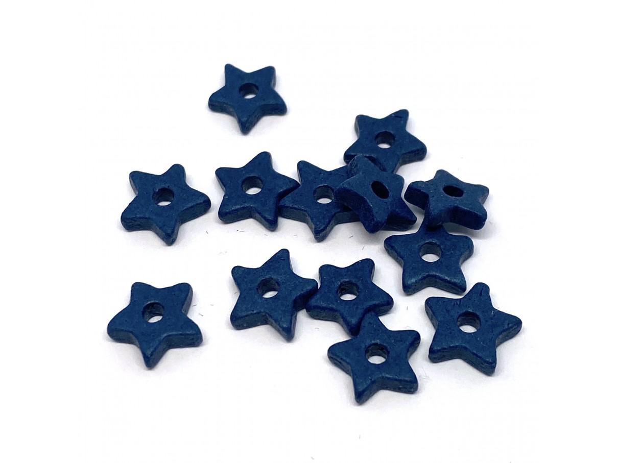 9mm keramikstjerne, marineblå