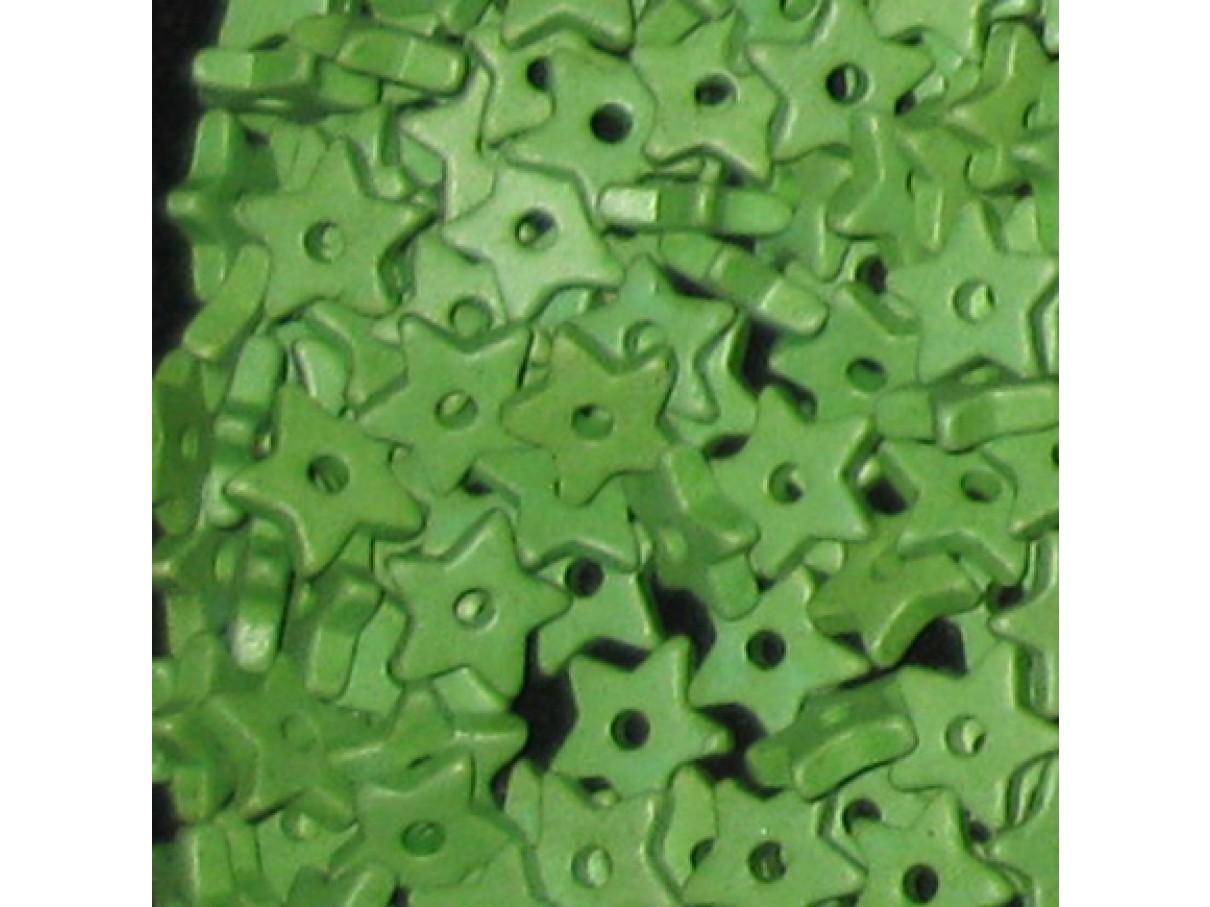 9mm keramikstjerne, æblegrøn