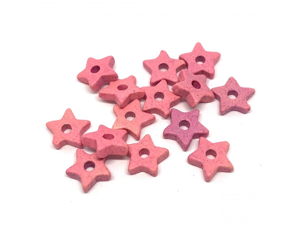 9mm keramikstjerne, lyserød