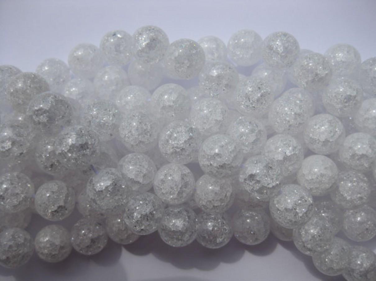 Krakkeleret krystal, rund 12mm