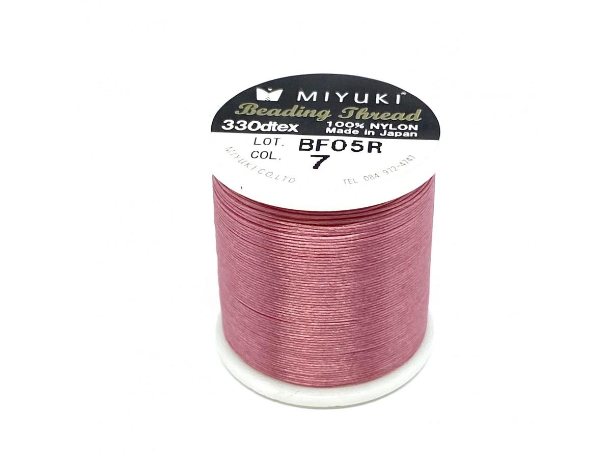 Miyuki nylon sytråd 0,25mm, rosa 50m
