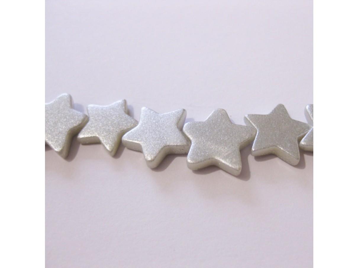 Sølvbelagte shell stjerner