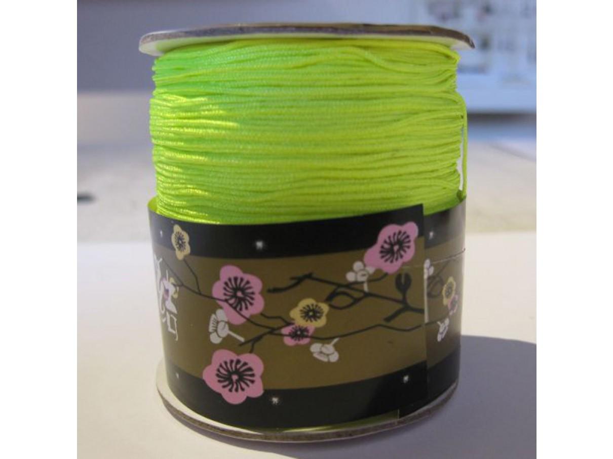 0,8mm nylon knyttesnor, neon gul-3