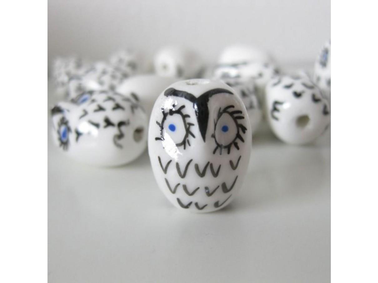hvid porcelænsugle