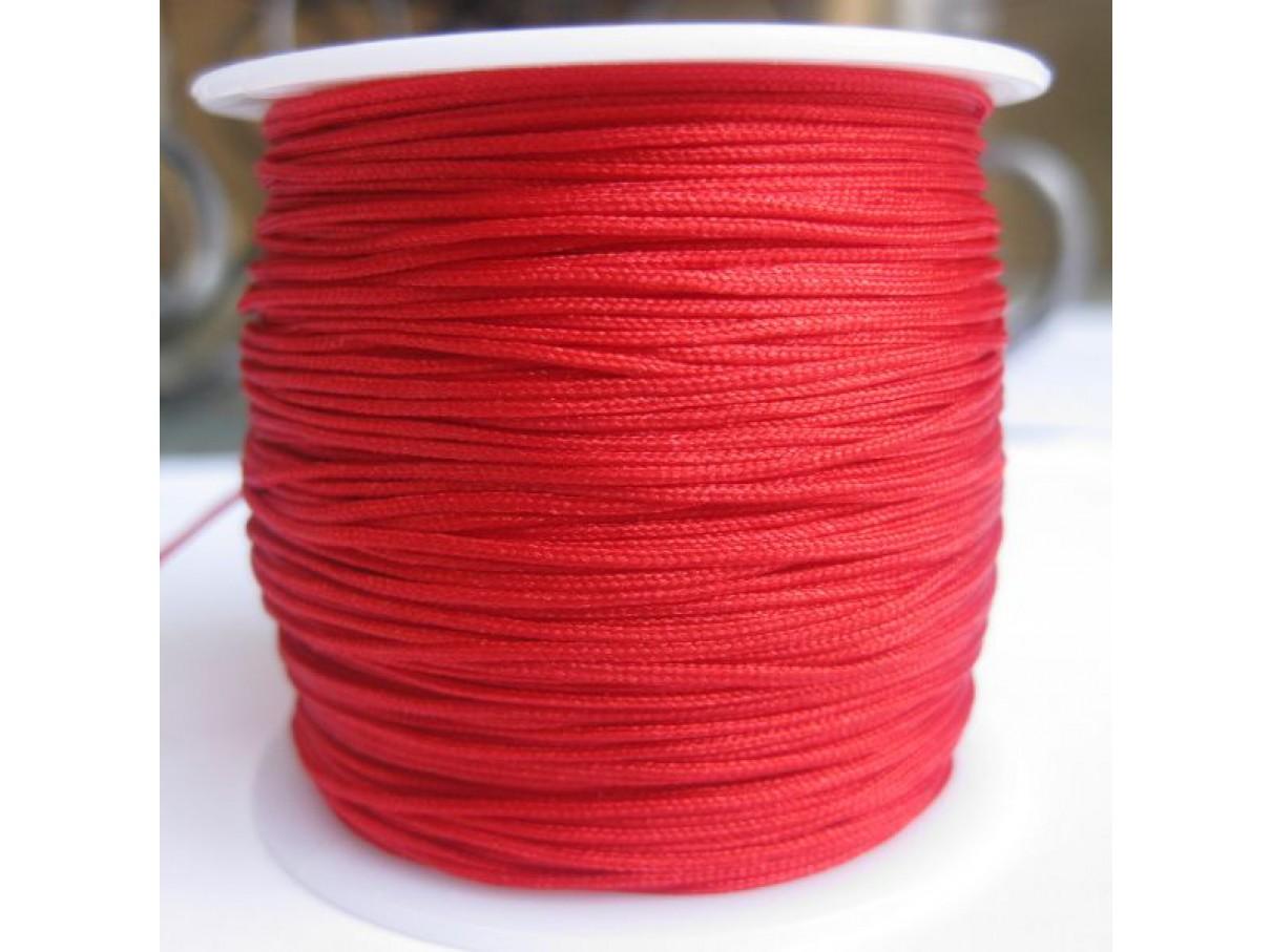 1,0mm nylon knyttesnor, rød