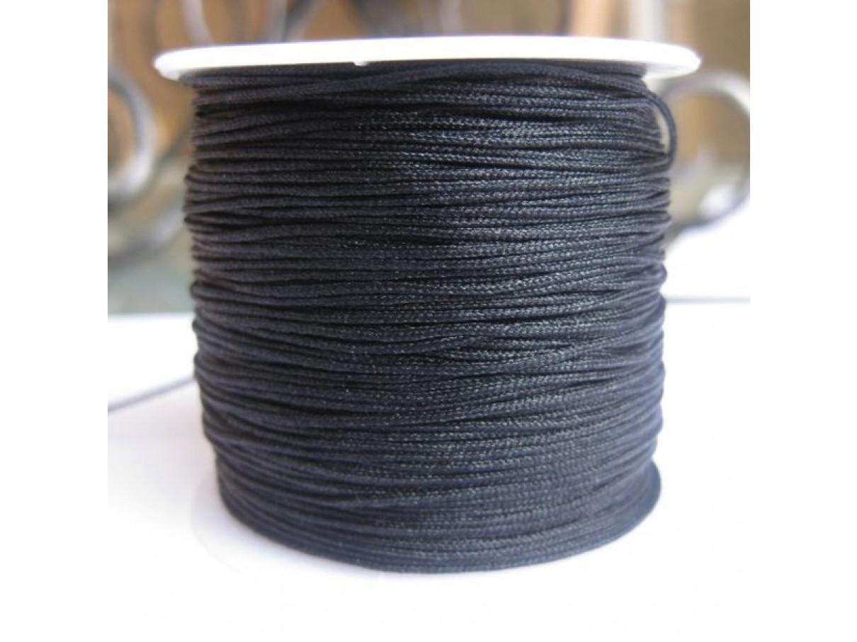 1,0mm nylon knyttesnor, sort, 45m
