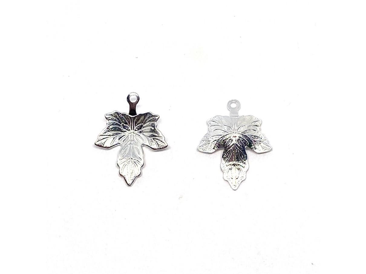 sølv ahorn blad vedhæng