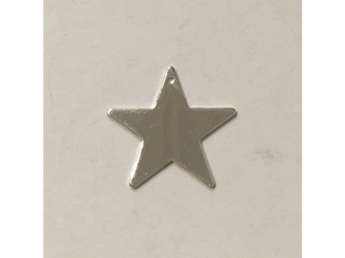 17mm forsølvet stjerne vedhæng