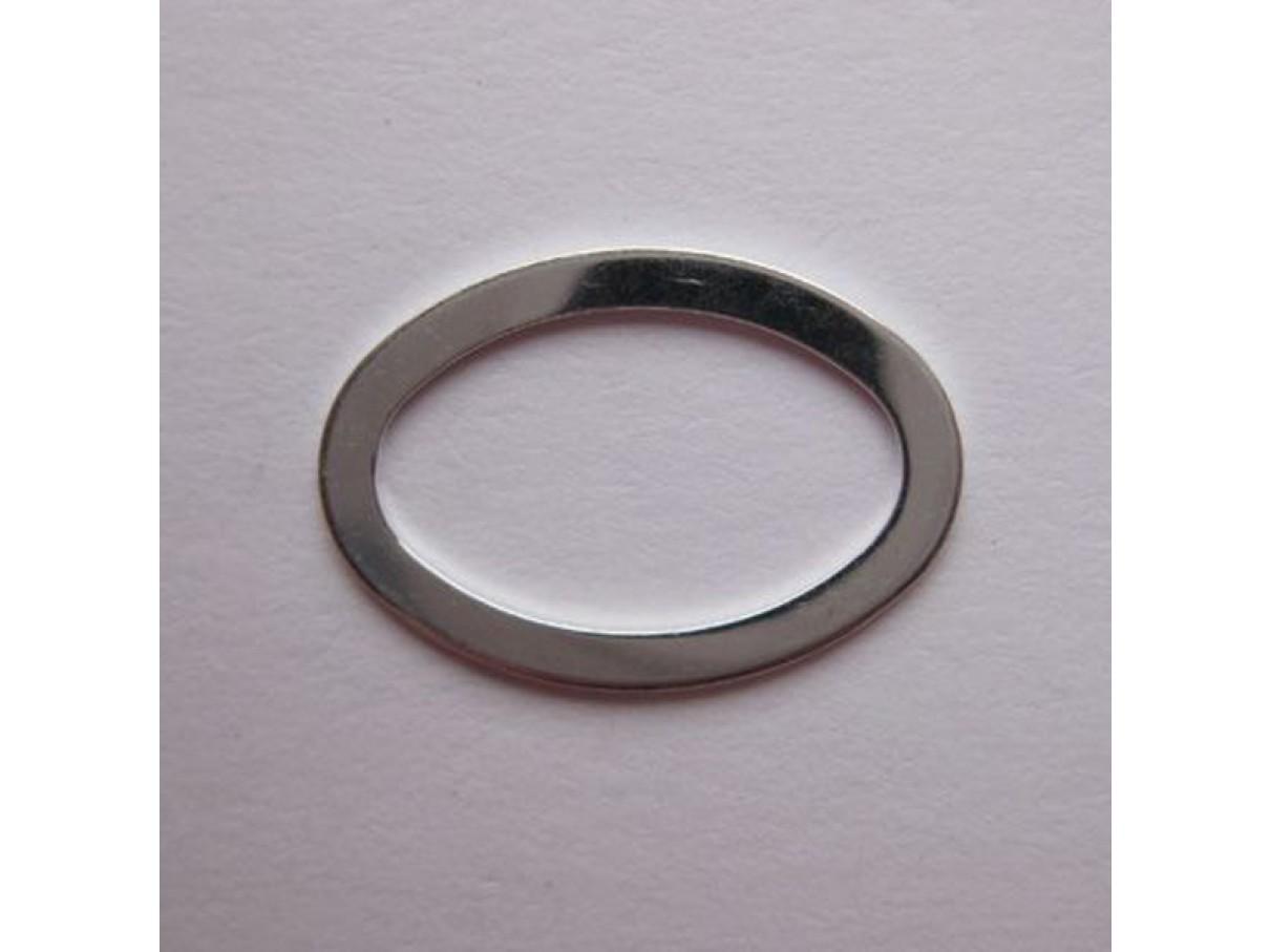 22*15mm forsølvet oval