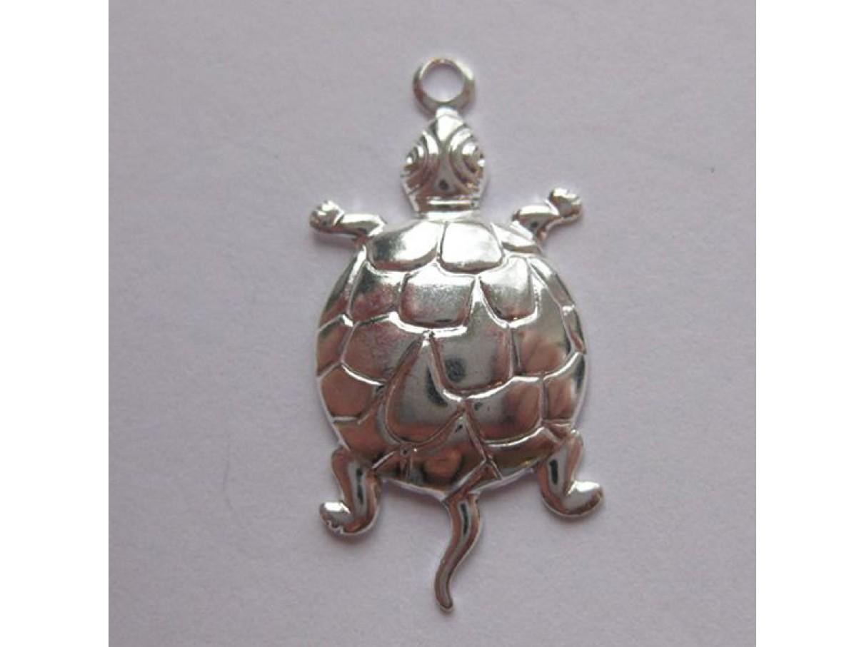 24*14mm forsølvet skildpadde vedhæng