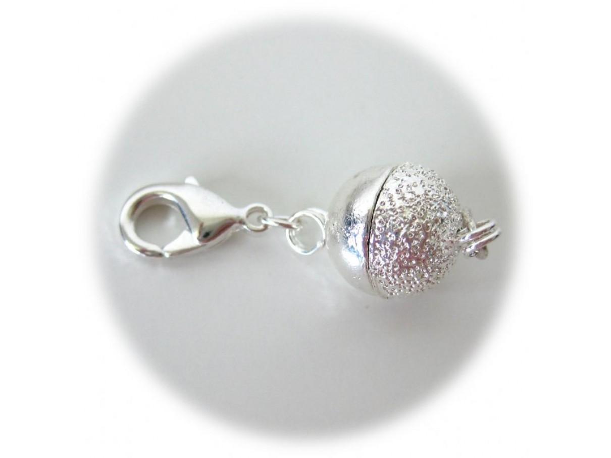 Sølvbelagt magnet lås med karabinhage-3