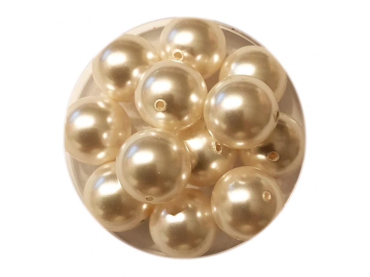 Swarovski crystal pearl, White, 10mm rund
